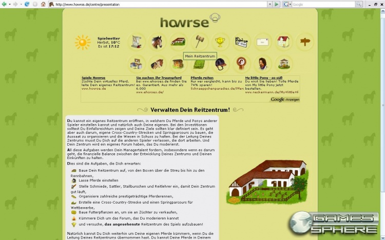 Howrse Screenshot