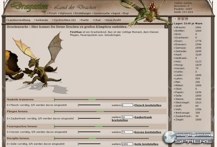 Dragosien - Land der Drachen Screenshot
