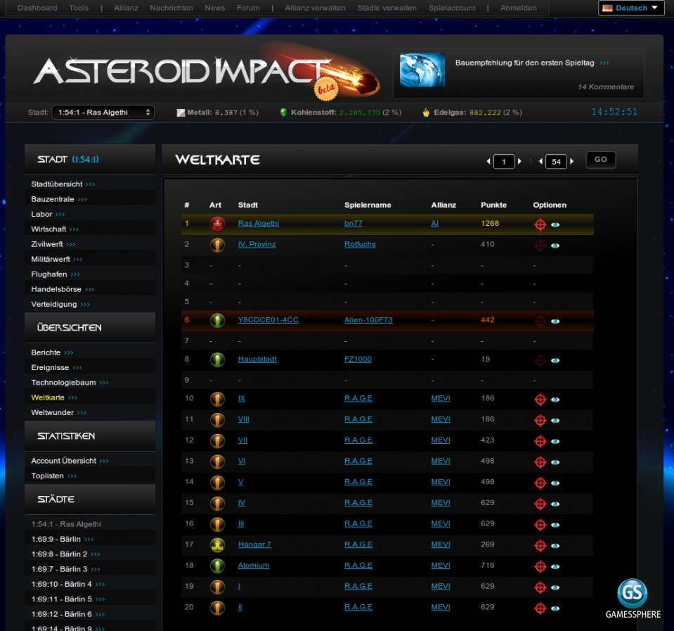 Asteroid Impact Screenshot