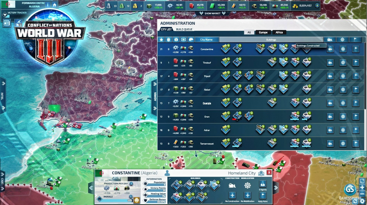 Conflict of Nations Screenshot